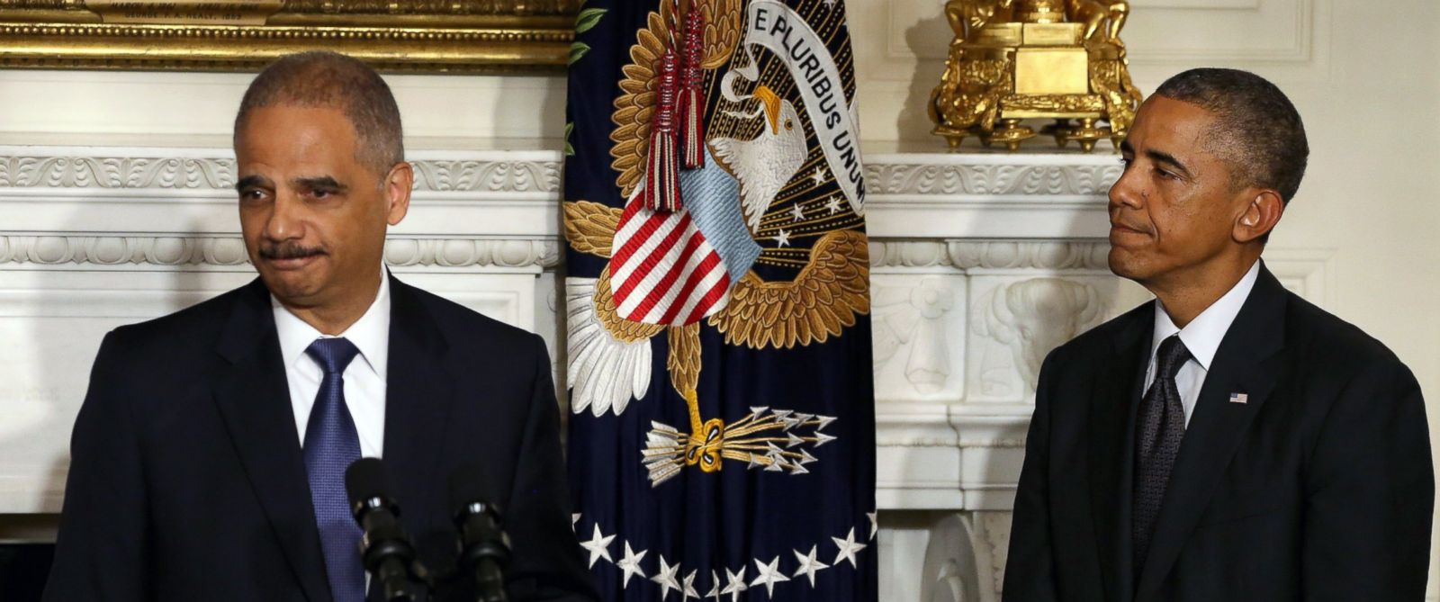 President Barack Obama and former Attorney General Eric Holder