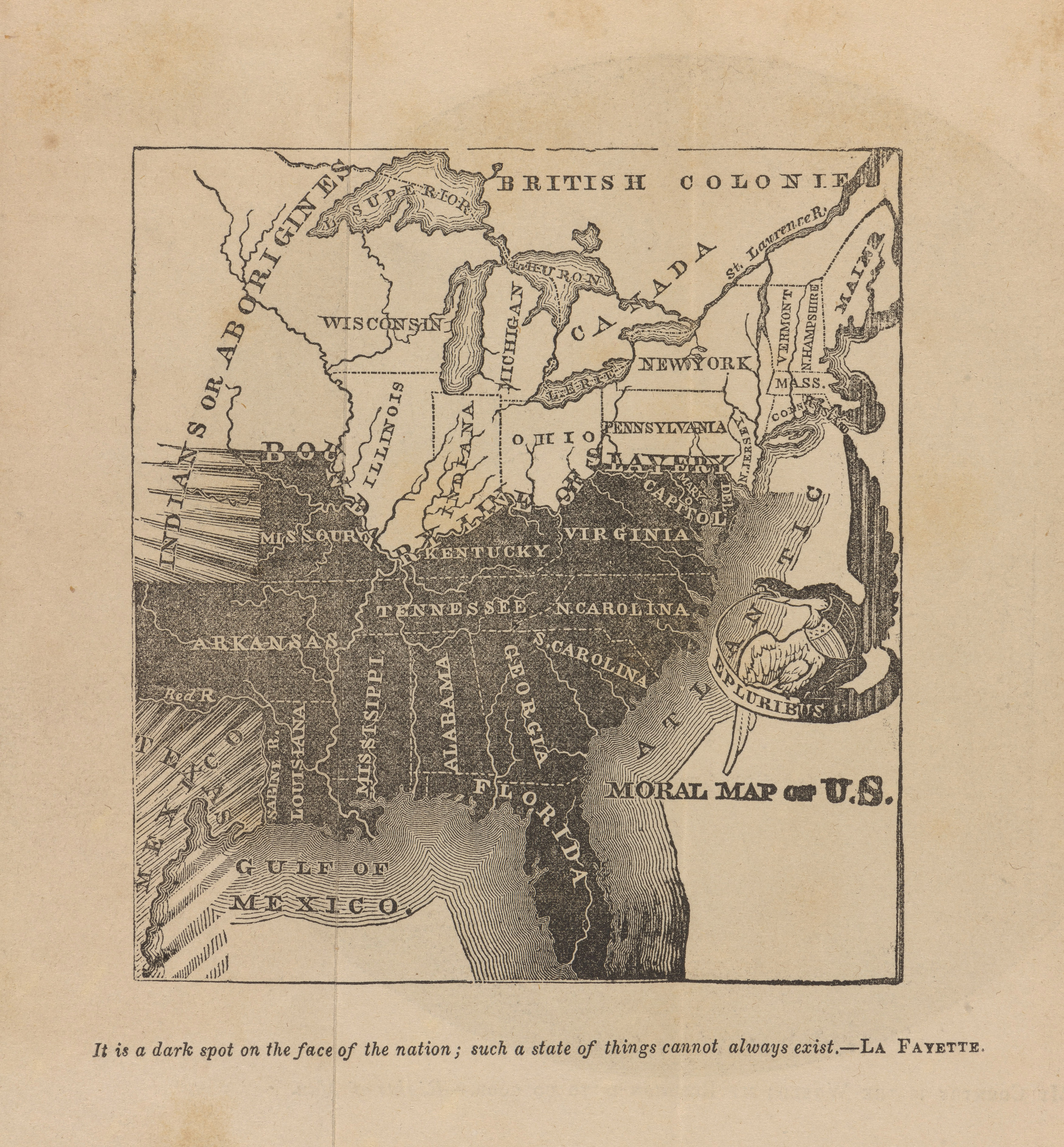 It Takes A Village VNV Tuesday Genocide And Slavery Shaped Us - Map of slavery in the us