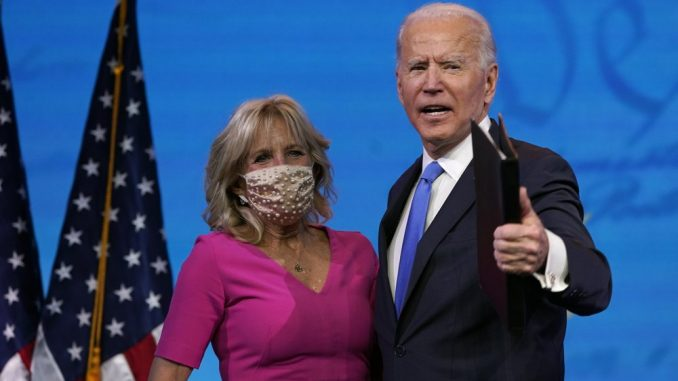 Dr. Jill Biden and President-Elect Joe Biden
